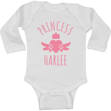 Cute Princess Harlee Heart Onesie