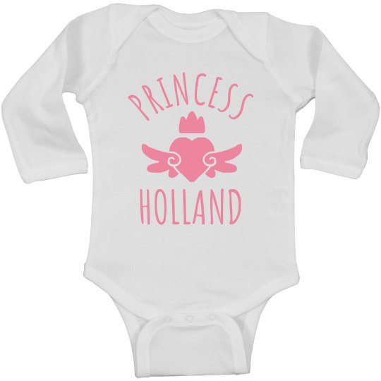 Cute Princess Holland Heart Onesie