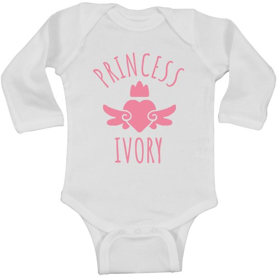 Cute Princess Ivory Heart Onesie