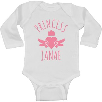 Cute Princess Janae Heart Onesie