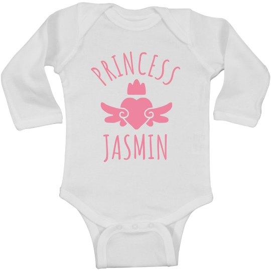Cute Princess Jasmin Heart Onesie