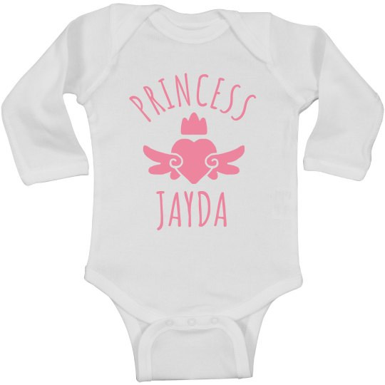 Cute Princess Jayda Heart Onesie