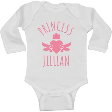 Cute Princess Jillian Heart Onesie