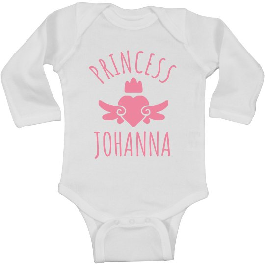 Cute Princess Johanna Heart Onesie