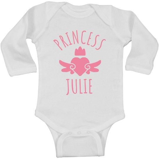 Cute Princess Julie Heart Onesie