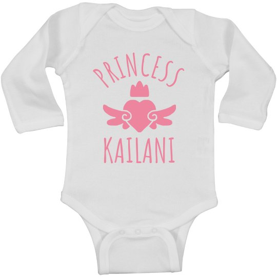 Cute Princess Kailani Heart Onesie