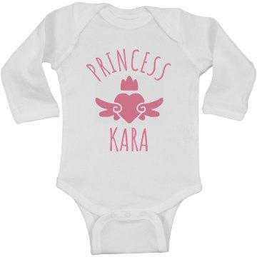 Cute Princess Kara Heart Onesie