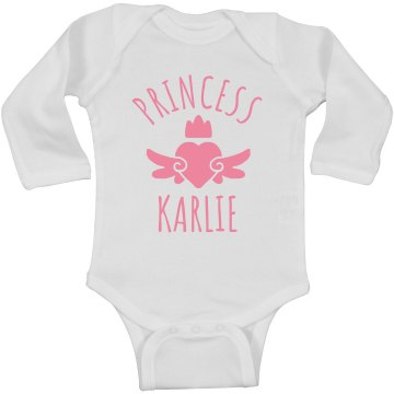 Cute Princess Karlie Heart Onesie