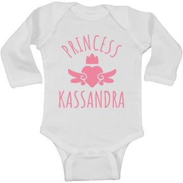 Cute Princess Kassandra Heart Onesie