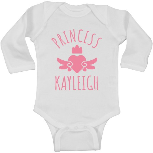 Cute Princess Kayleigh Heart Onesie