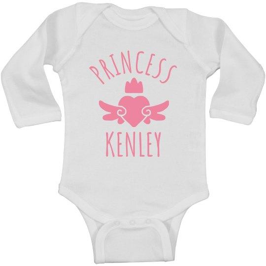 Cute Princess Kenley Heart Onesie
