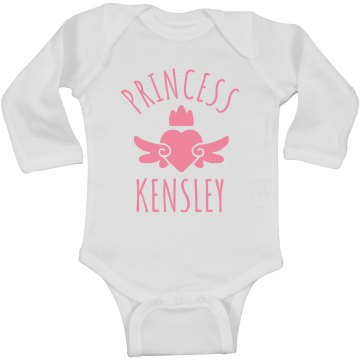 Cute Princess Kensley Heart Onesie