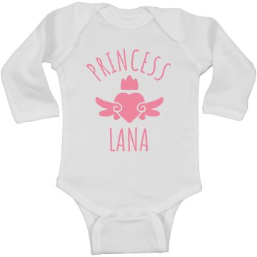 Cute Princess Lana Heart Onesie
