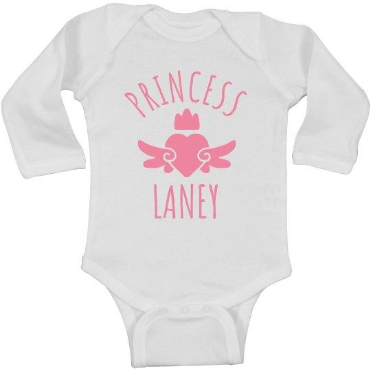 Cute Princess Laney Heart Onesie