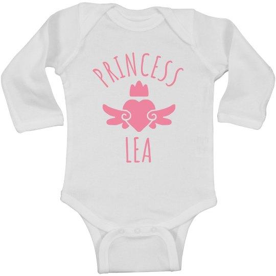 Cute Princess Lea Heart Onesie