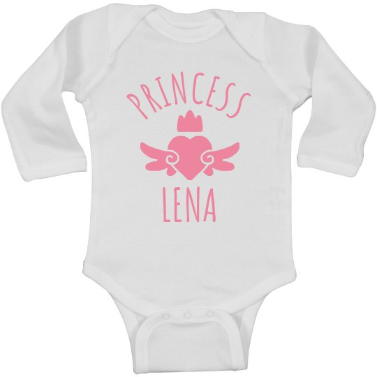 Cute Princess Lena Heart Onesie