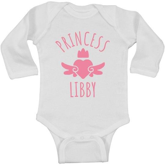 Cute Princess Libby Heart Onesie