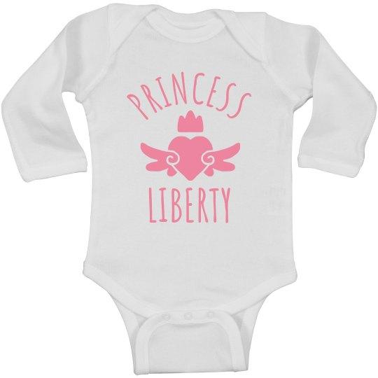 Cute Princess Liberty Heart Onesie