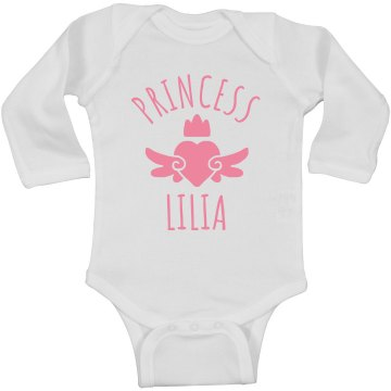 Cute Princess Lilia Heart Onesie