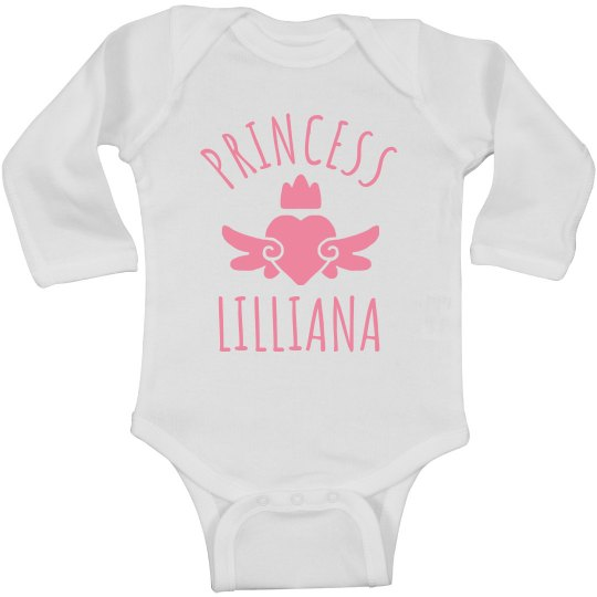 Cute Princess Lilliana Heart Onesie