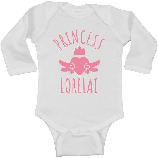 Cute Princess Lorelai Heart Onesie