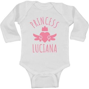 Cute Princess Luciana Heart Onesie