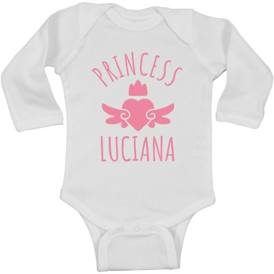 Cute Princess Luciana Heart Onesie