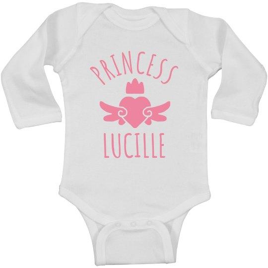 Cute Princess Lucille Heart Onesie