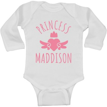 Cute Princess Maddison Heart Onesie