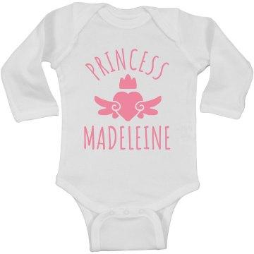 Cute Princess Madeleine Heart Onesie