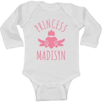 Cute Princess Madisyn Heart Onesie