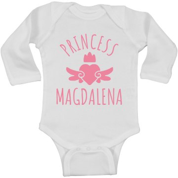 Cute Princess Magdalena Heart Onesie