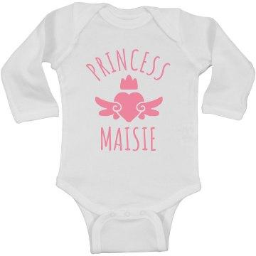 Cute Princess Maisie Heart Onesie