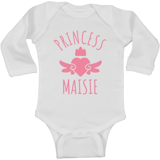 Cute Princess Maisie Heart Onesie