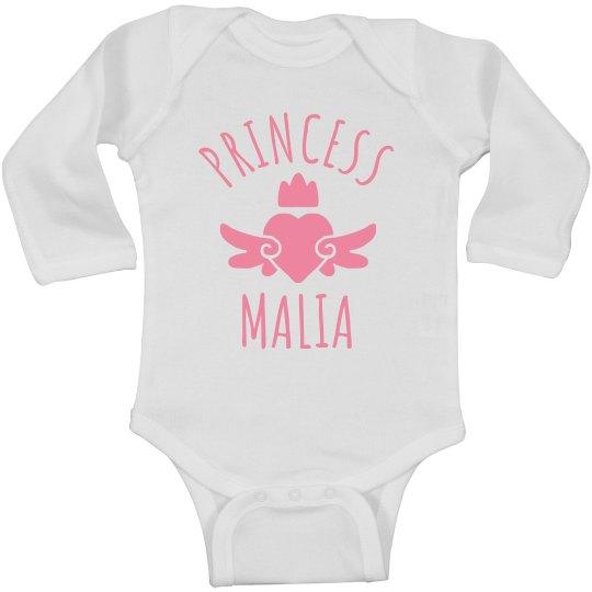 Cute Princess Malia Heart Onesie