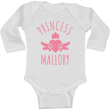 Cute Princess Mallory Heart Onesie