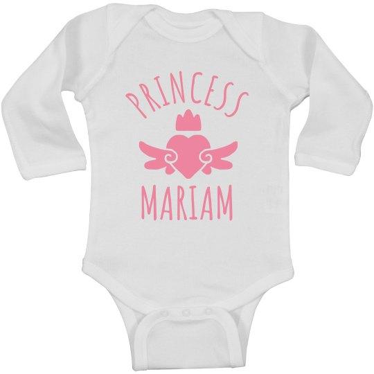 Cute Princess Mariam Heart Onesie