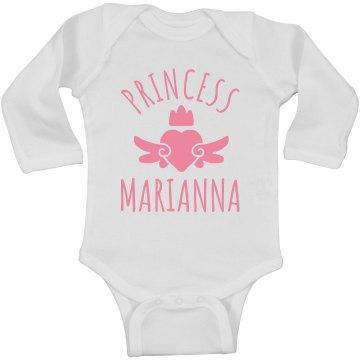 Cute Princess Marianna Heart Onesie