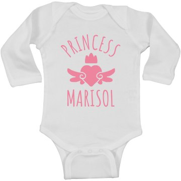 Cute Princess Marisol Heart Onesie