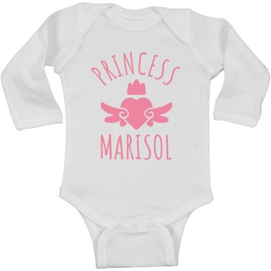 Cute Princess Marisol Heart Onesie