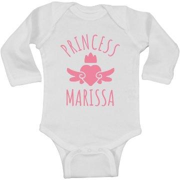 Cute Princess Marissa Heart Onesie