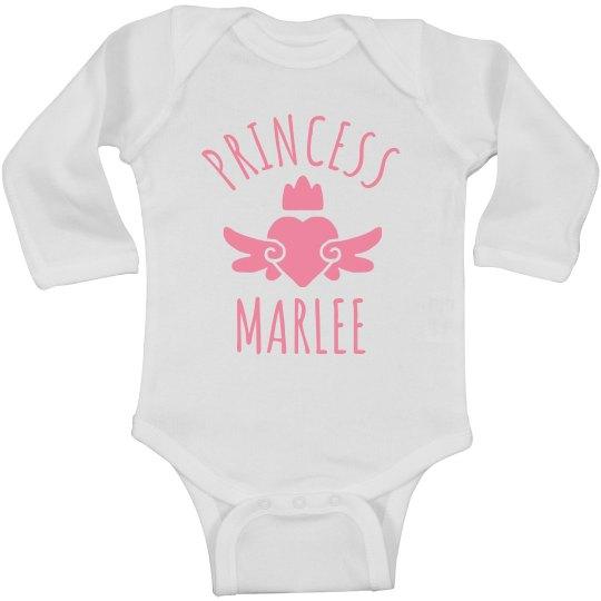 Cute Princess Marlee Heart Onesie