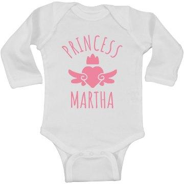 Cute Princess Martha Heart Onesie