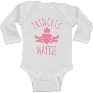 Cute Princess Mattie Heart Onesie
