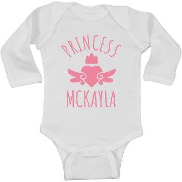 Cute Princess Mckayla Heart Onesie