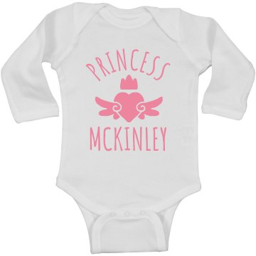 Cute Princess Mckinley Heart Onesie