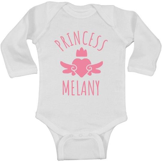Cute Princess Melany Heart Onesie