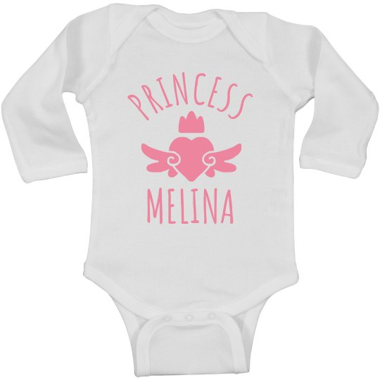 Cute Princess Melina Heart Onesie