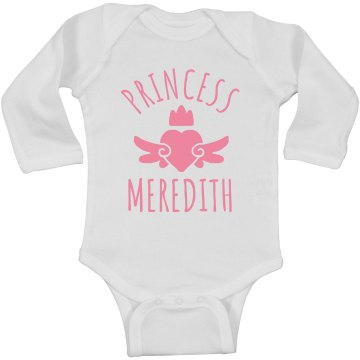 Cute Princess Meredith Heart Onesie