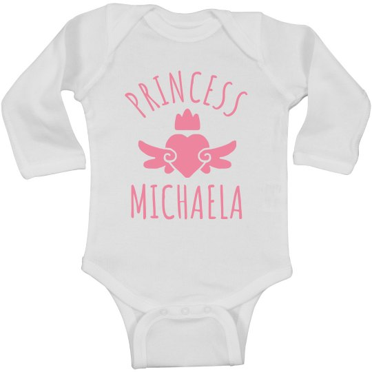 Cute Princess Michaela Heart Onesie